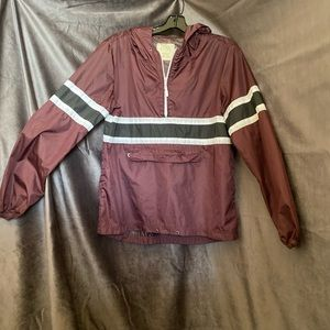 Lightweight Zine Burgundy Windbreaker